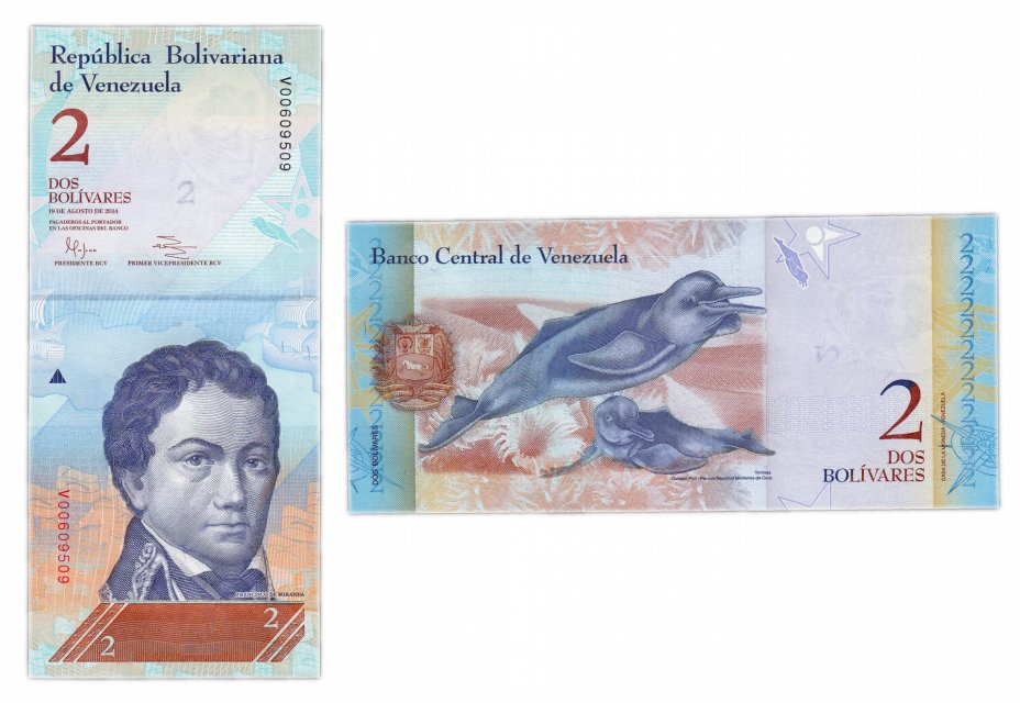 купить Венесуэла 2 боливара 2014 (Pick 88g) 19.08.2014