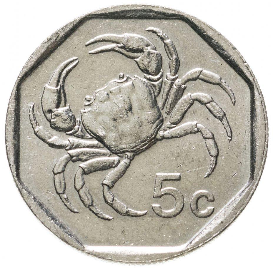 купить Мальта 5 центов (cents) 1991-2001, случайная дата