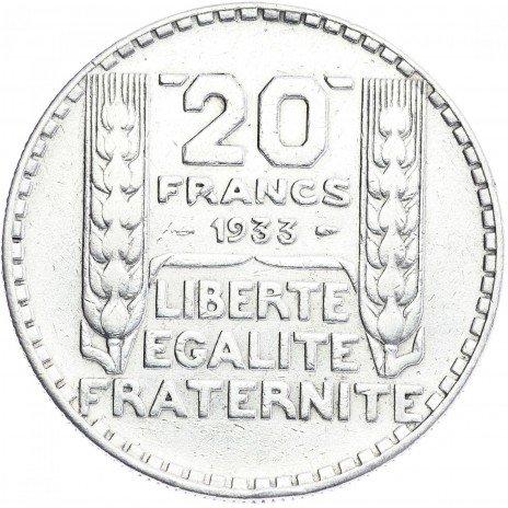 купить Франция 20 франков 1933г