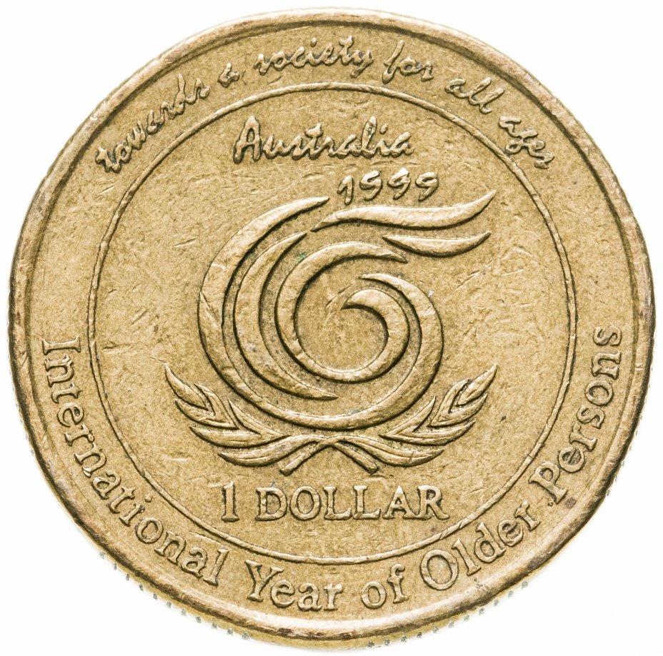 """купить Австралия 1 доллар (dollar) 1999 """"Международный год пожилых людей"""""""