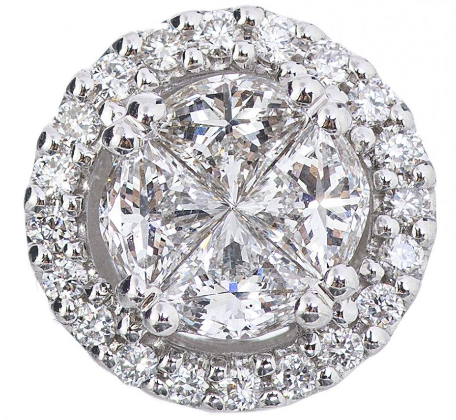 "купить Кулон с бриллиантами, белое золото (18k. пр.), алмазная фабрика ""Coster Diamonds"", Нидерланды, 2015 г."