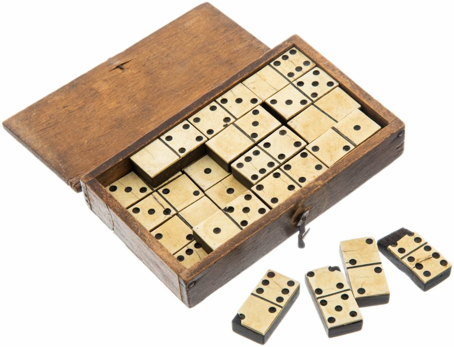 """купить Домино в родной коробке """"Weekend - Domino"""", дерево, кость, Великобритания,  1890-1910 гг."""