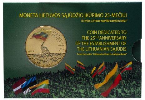 """купить Литва 25 лит 2013  """"25 лет Саюдис"""" в буклете"""