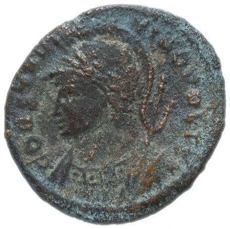купить Римская Империя семья Константина I 330-350 гг фоллис (реверс: Виктория стоит на проре корабля влево)