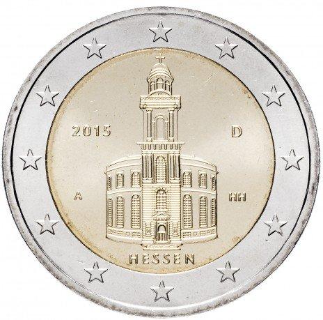 """купить Германия 2 евро 2015 A """"Федеральные земли Германии: Гессен"""""""