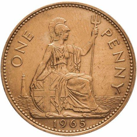 купить Великобритания 1 пенни 1962-1967 периода правления Елизаветы II
