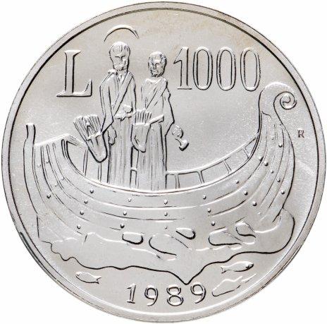 """купить Сан-Марино 1000 лир 1989 """"Лодка Истории"""""""