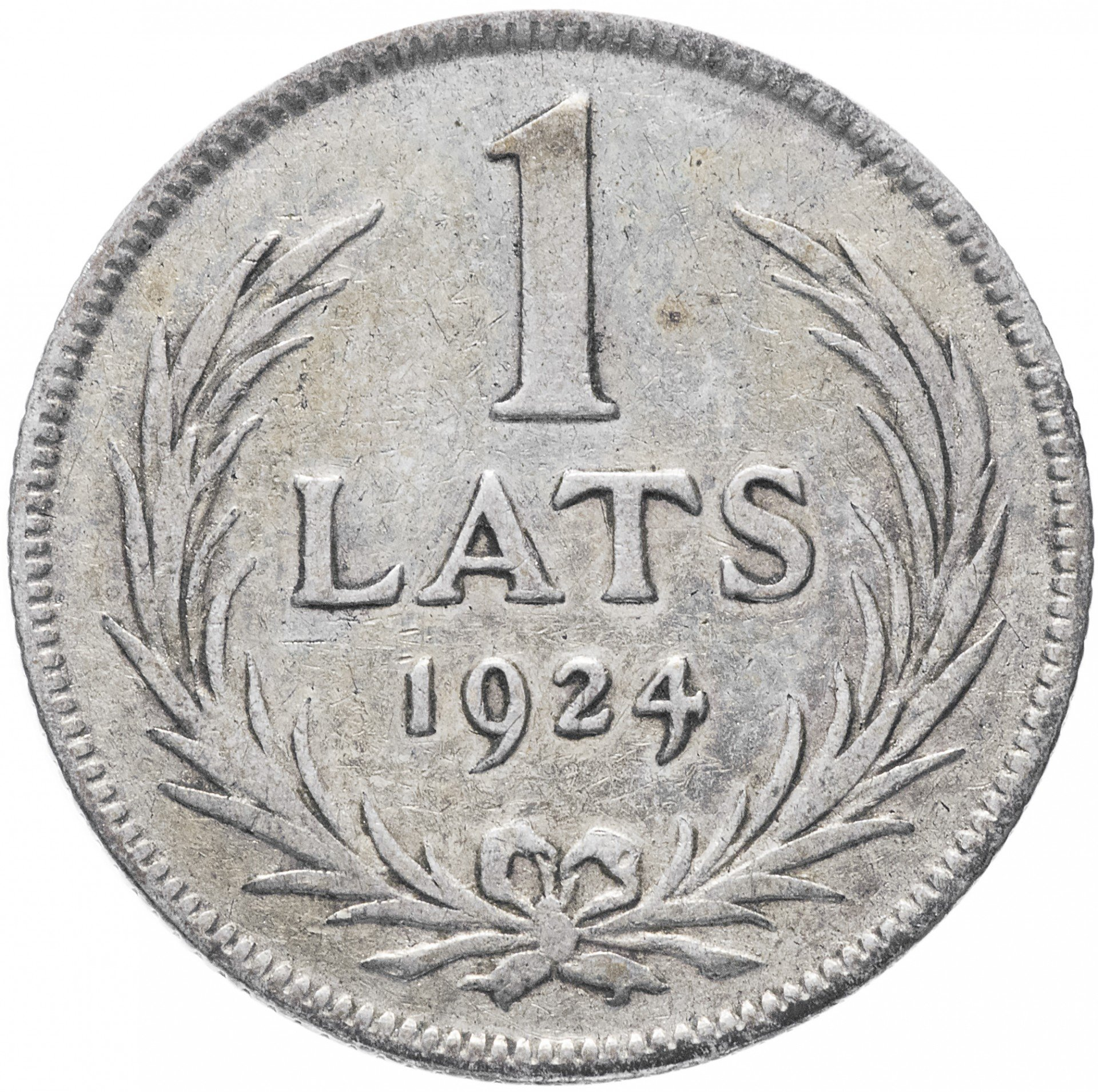 Латвия 1 лат 1924 1 копейка 2001 сп