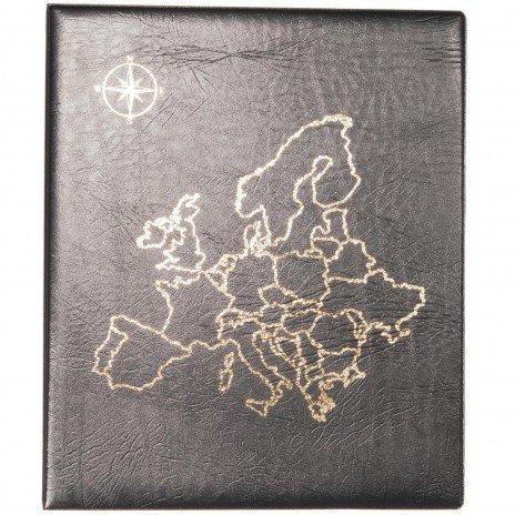 """купить Папка на кольцах формата OPTIMA """"Европа"""", черная"""