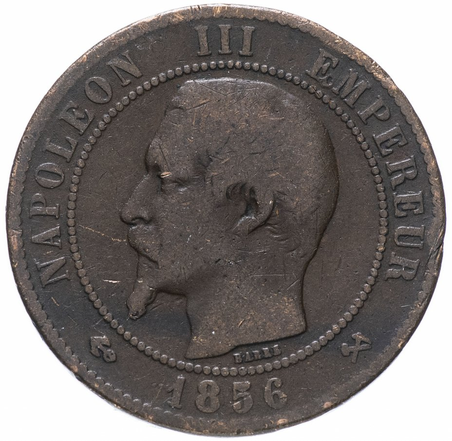 купить Франция 10 сантимов 1856 B
