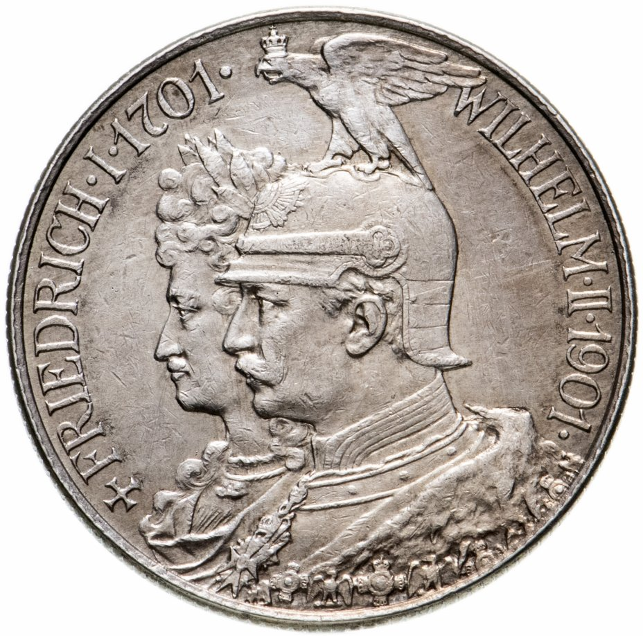 """купить Германская Империя, Пруссия 2 марки 1901 """"200 лет Пруссии"""""""
