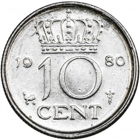 купить Нидерланды 10 центов 1980