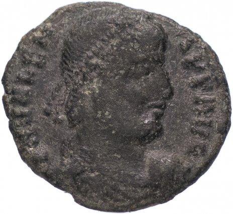 купить Римская Империя Валент II 364–378 гг фракция фоллиса (реверс: Виктория идет влево, в руках - венок и пальмовая ветвь)