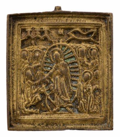 купить Икона «Воскресение Христово. Сошествие во ад», латунь, литьё, Российская империя, 1850-1900 гг.