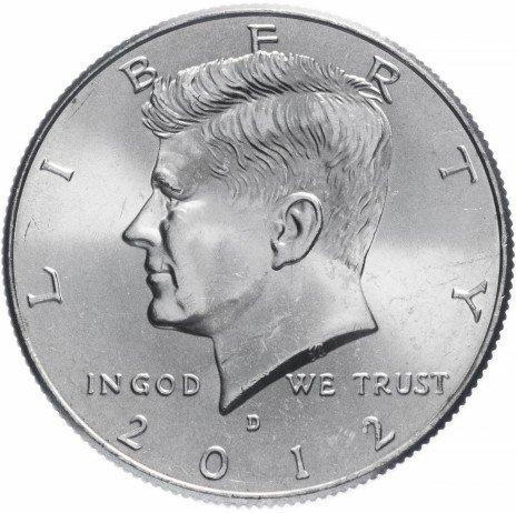 """купить США 1/2 доллара (50 центов, half dollar) 2012 D """"Кеннеди"""""""