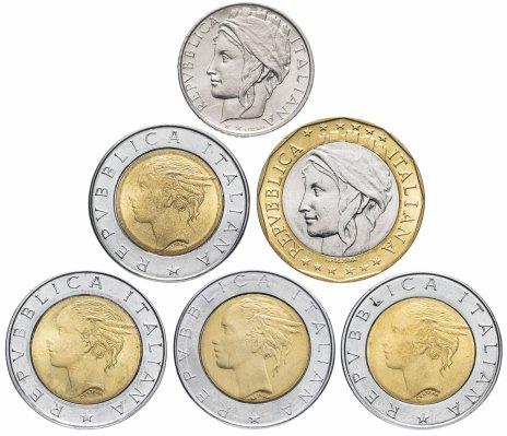 купить Италия набор из 6 монет 1987-1998