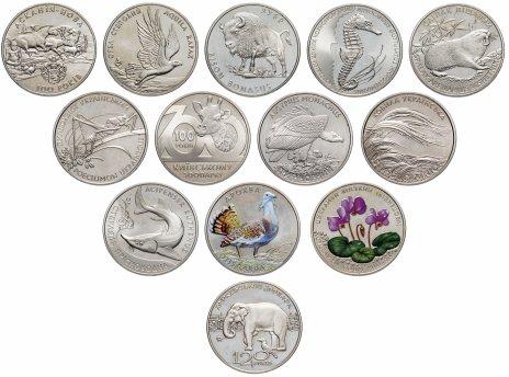 купить Украина набор из 13 монет 2 гривны 1998-2015