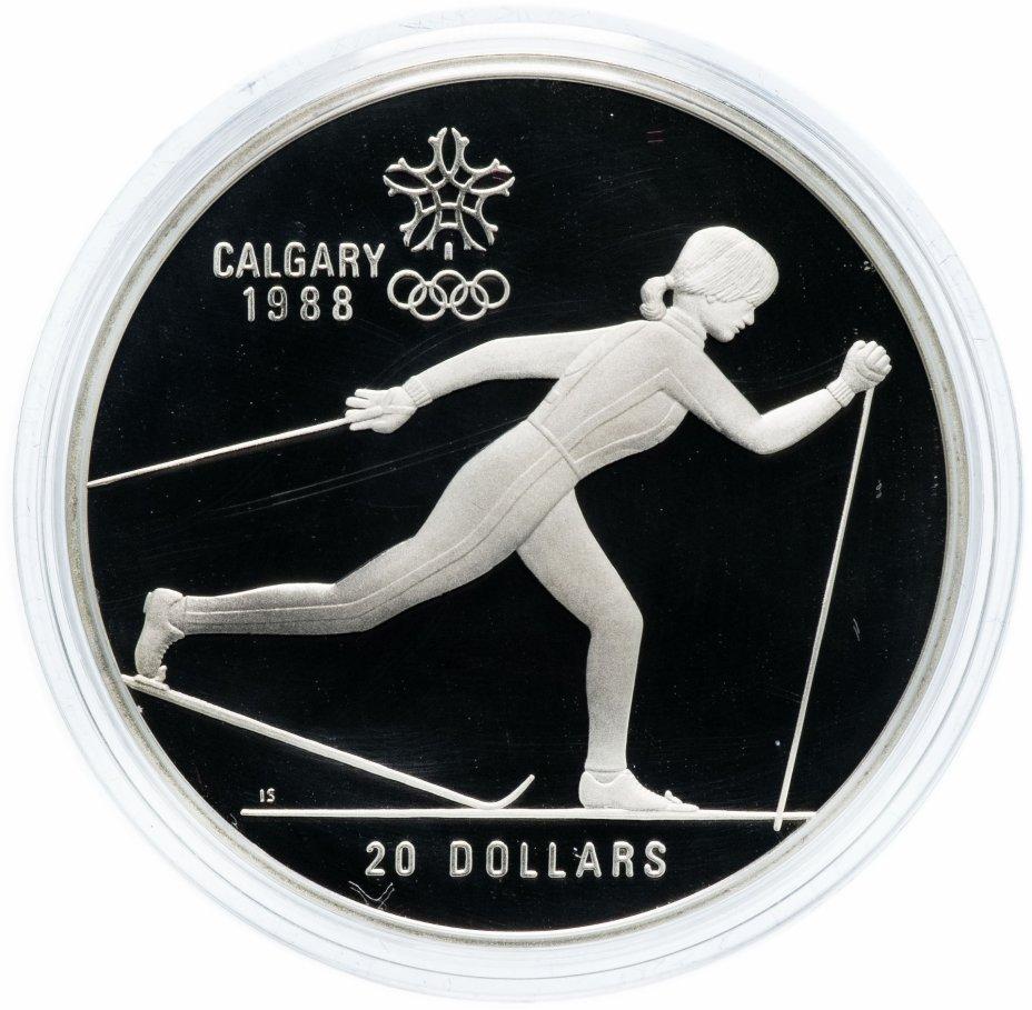 """купить Канада 20 долларов 1986 """"XV зимние Олимпийские игры в Калгари - Лыжный спорт"""""""