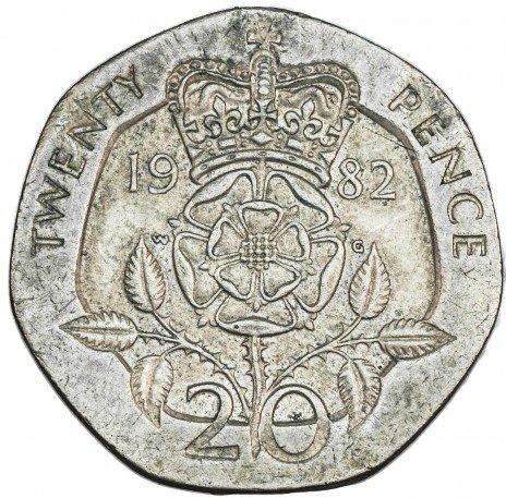 купить Англия 20 пенсов 1982