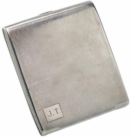 купить Портсигар с декором в виде пчелиных сот, серебро 925 пр., г. Бирмингем, Великобритания, 1929 г.