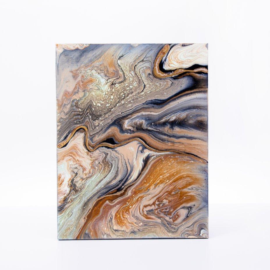 купить Картина «Мраморный срез. Абстракция», авторская работа в технике Fluid Art, холст, акрил, художник Анна Лукьянова, Россия, 2021 г.