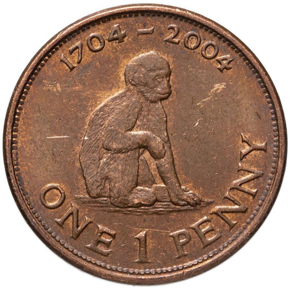 """купить Гибралтар 1 пенни (penny) 2004 """"300 лет захвату Гибралтара"""""""