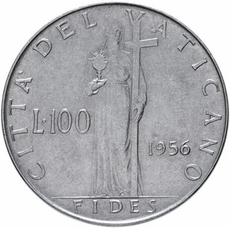 купить Ватикан 100 лир 1956