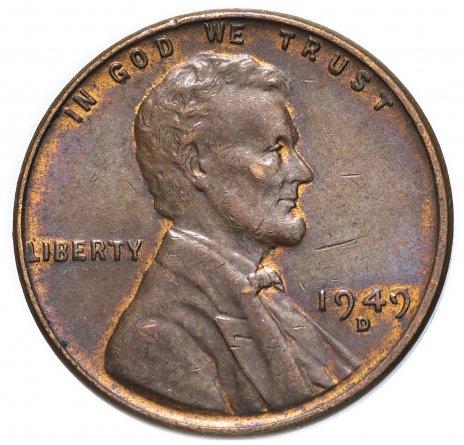 купить США 1 цент 1949 D