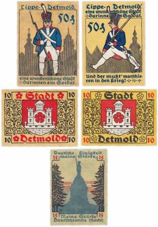 купить Германия (Липпе-Детмольд: Детмольд) набор из 5 нотгельдов 1920 (268/B1)