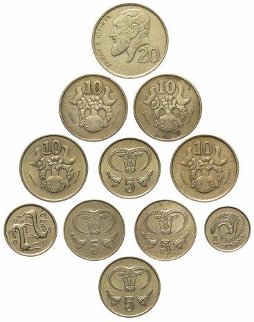 купить Кипр набор из 11 монет 1983-2001