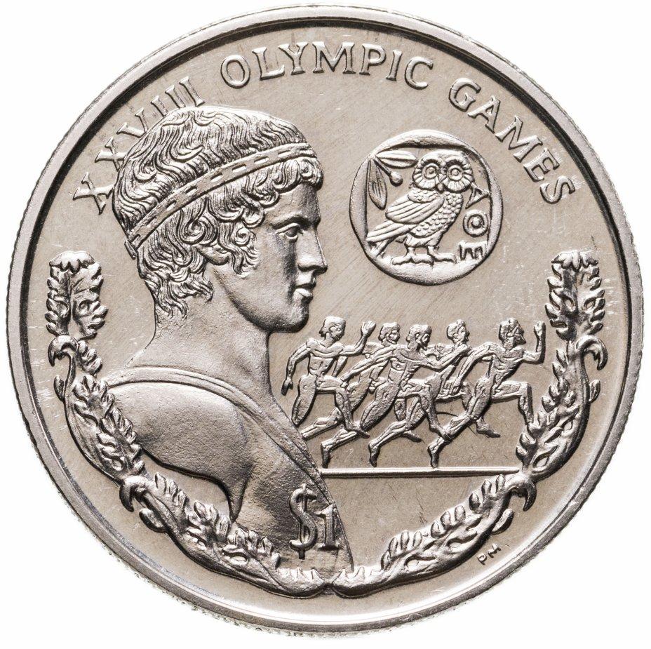 """купить Британские Виргинские острова 1 доллар (dollar) 2004 """"XXVIII летние Олимпийские Игры, Афины 2004 - бег"""""""