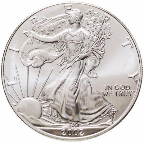 купить США 1 доллар (dollar) 2002  Американский серебряный орёл Без отметки монетного двора