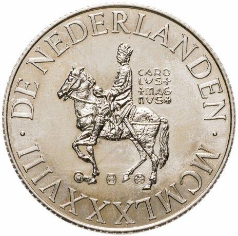 купить Нидерланды 10 экю 1988 Карл Великий