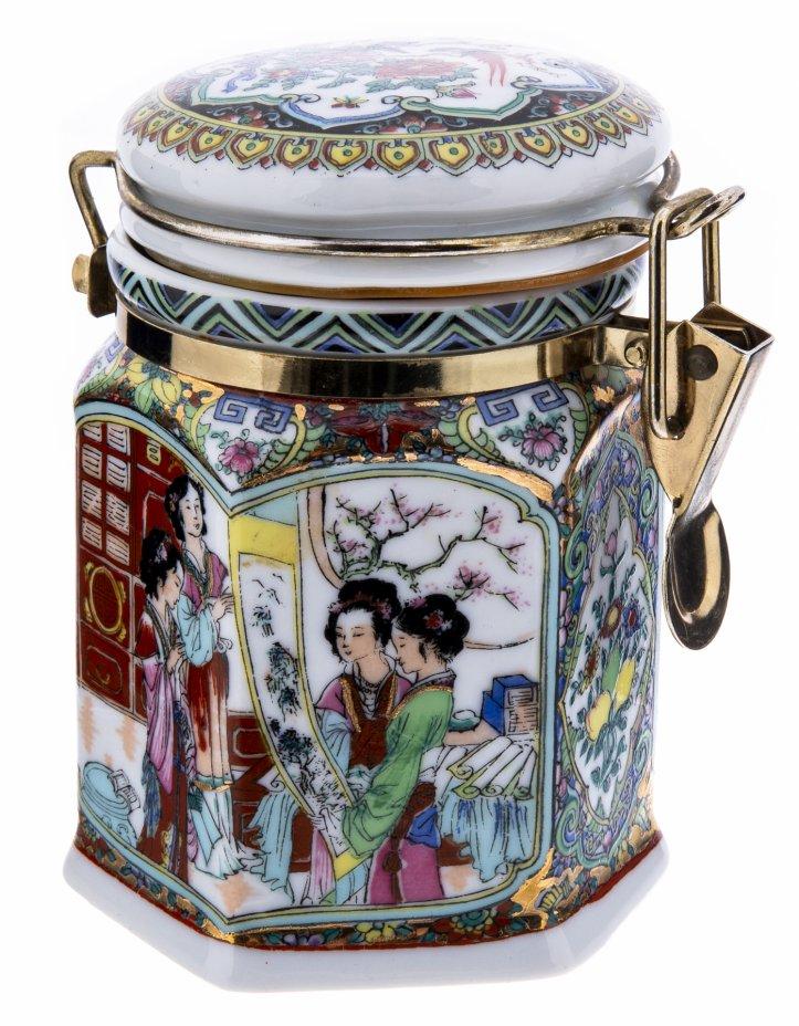 купить Емкость для хранения чая (чайница), фарфор, золочение, Япония, 2000-2015 гг.