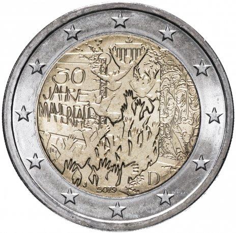 """купить Германия 2 евро 2019 J """"30-летие падения Берлинской стены"""""""