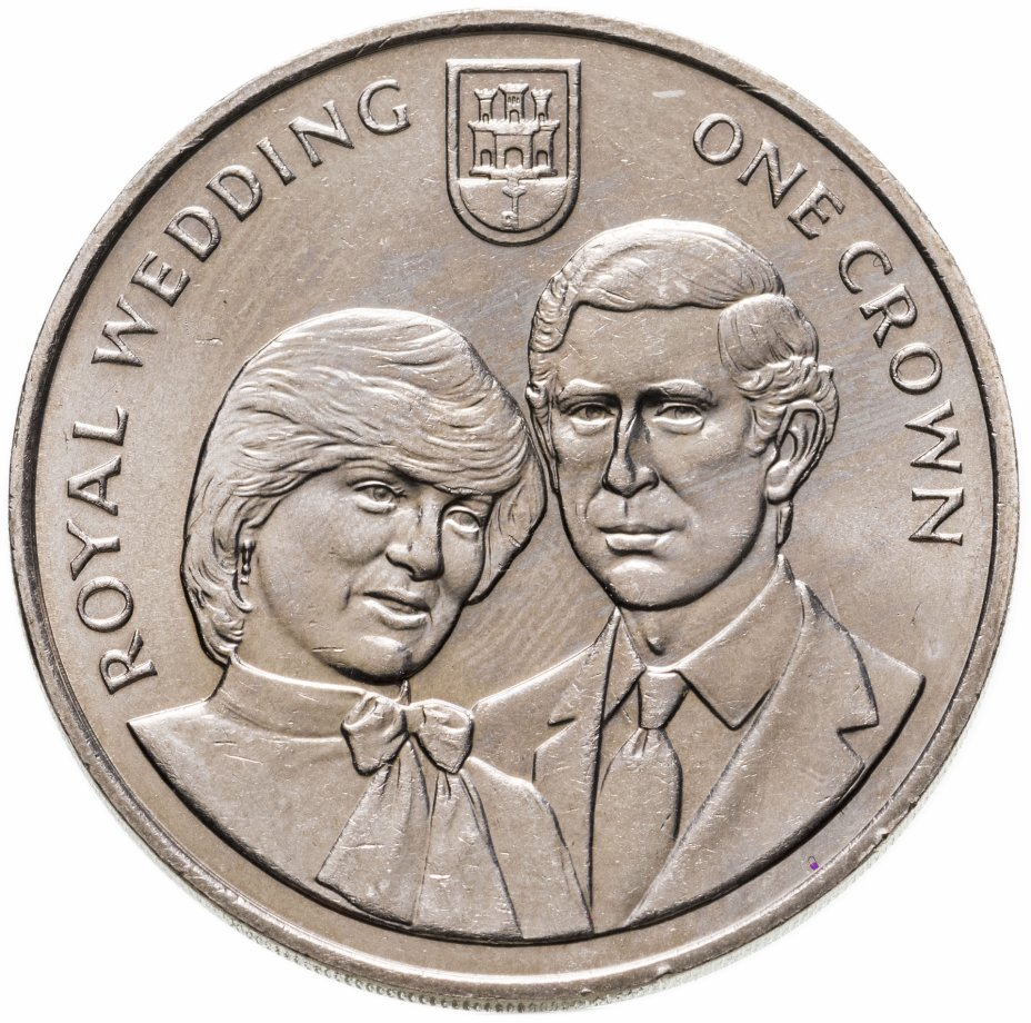"""купить Гибралтар 1 крона (crown) 1981 """"Свадьба Принца Чарльза и Леди Дианы"""""""